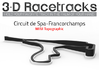 Mini Spa Francorchamps | Topographic  3d printed Render