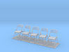 Metal Folding Chair 1/35 scale UNFOLDED set of fiv 3d printed