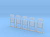 Metal Folding Chair 1/35 scale FOLDED 3d printed