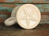 Starfish Mermaid Mug 3d printed shown here in (discontinued) ceramic material
