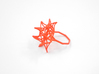 Aster Ring (Small) Size 7 3d printed Coral Nylon (Custom Dyed Color)