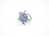 Aster Ring (Small) Size 7 3d printed Azurite Nylon (Custom Dyed Color)