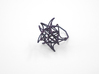 Aster Ring (Small) Size 7 3d printed Midnight Nylon (Custom Dyed Color)
