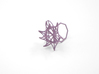 Aster Ring (Small) Size 6 3d printed Wisteria Nylon (Custom Dyed Color)
