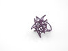 Aster Ring (Small) Size 8 3d printed Eggplant Nylon (Custom Dyed Color)