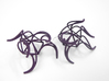 Aster Earrings 3d printed Midnight Nylon (Custom Dyed Color)