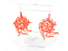 Aster Globe Earrings 3d printed Coral Nylon (Custom Dyed Color)