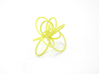 Flora Ring B (Size 7) 3d printed Key Lime Nylon (Custom Dyed Color)