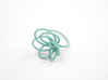 Flora Ring A (Size 6) 3d printed Teal Nylon (Custom Dyed Color)