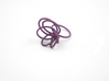 Flora Ring A (Size 6) 3d printed Eggplant Nylon (Custom Dyed Color)