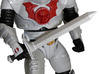 Horde Trooper Sword 3d printed Painted Prototype printed in White Strong & Flexible Polished