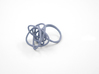 Sprouted Spiral Ring (Size 6) 3d printed Azurite Nylon (Custom Dyed Color)