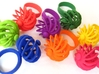 Turbine Fidget Ring 3d printed Available in all dyed strong and flexible plastics