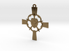 Luther Rose Cross Pendant 3d printed