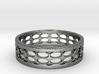 Black Circles Ring (Size 5.25) 3d printed