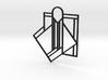 Art Deco Pendant - A Little Off Center 3d printed