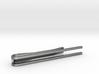 Minimalist Tie Bar - Parallels 3d printed