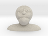 Characature Of Bald Old Man looking up Bust 3d printed