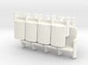 Theater Seats HO scale 3 sets of 4 seats 3d printed