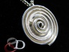 InFin Nautilus: Pendant - Petite 3d printed Actual product image shown in polished silver. Chain not included.