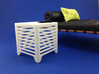Slice End Table 1:12 scale 3d printed White Strong & Flexible Polished