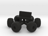 "Amphi-cat Moonbuggy Wheels & Seat for 12"" Eagle 3d printed"
