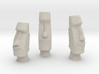 3 Easter Island statues (1:160) 3d printed