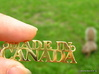 Made in CANADA Pendant 3d printed Gold Plated Brass (not anymore available) - squirrel not included ;-)