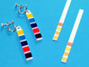 pH Litmus Paper Earrings 3d printed