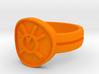 Orange Avarice Double Banded (Sz 5-15) 3d printed