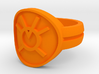 Orange Avarice Double Banded Sz 7 3d printed