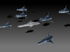 1/10 000 Integral-Class Battleship 3d printed An interstellar task force centred around an Integral. This picture shows all of the chuyinka ships I have created to date.