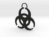 QUARANTINED - BioHazard Keychain 3d printed