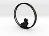 Bunny Hoop Earrings 40mm 3d printed