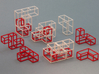"""SOMA's Revenge"" - Interlocking Puzzle Cube 3d printed Cube Example 1 - Exploded view"