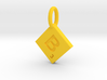 SCRABBLE TILE PENDANT  B 3d printed