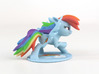 My Little Pony - Rainbow Dash Posed (≈55mm tall) 3d printed