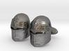 Medieval Helmet Cufflinks 3d printed