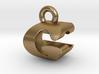3D Monogram Pendant - GCF1 3d printed