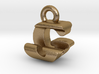 3D Monogram Pendant - GJF1 3d printed