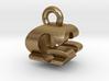 3D Monogram Pendant - GQF1 3d printed