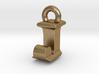 3D Monogram Pendant - IJF1 3d printed