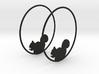 Squirrel Hoop Earrings 50mm 3d printed