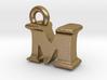 3D Monogram Pendant - MIF1 3d printed