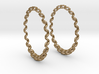 Knitted Hoop Earrings 60mm 3d printed