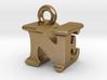 3D Monogram Pendant - NEF1 3d printed