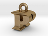 3D Monogram Pendant - PRF1 3d printed