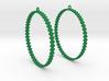 Pearl Hoop Earrings 60mm 3d printed