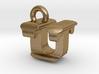 3D Monogram - UTF1 3d printed