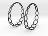 Curvy Wire 1 Hoop Earrings 50mm 3d printed